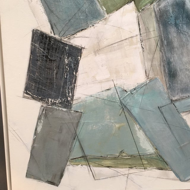 Large Kimberly Moore Rectilinear Acrylic Painting - Image 2 of 7