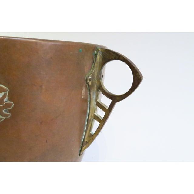Vintage Hammered Copper Planter For Sale - Image 5 of 6