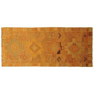 1930s Vintage Turkish Kilim Oriental Rug - 3′2″ × 9′8″ For Sale