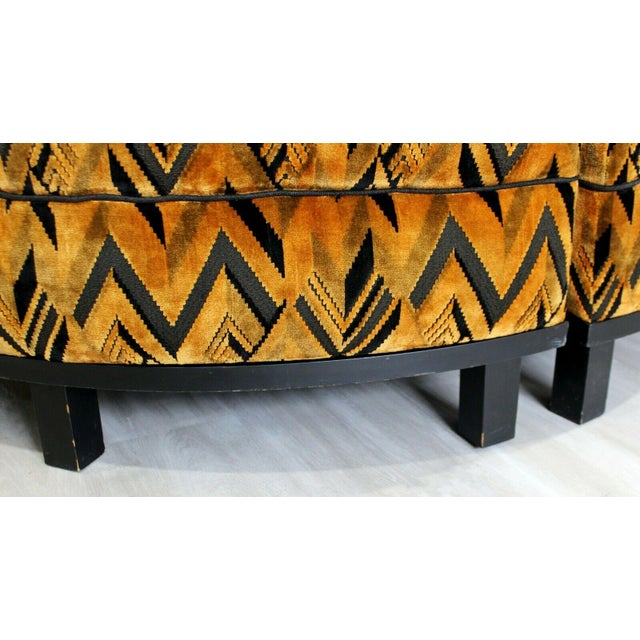 Mid Century Modern Wormley for Dunbar 4 Piece Sectional Ottoman Larsen Era 1960s For Sale In Detroit - Image 6 of 10