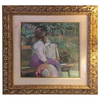 """Sally Rosenbaum """"Dreams"""" Oil on Canvas For Sale"""