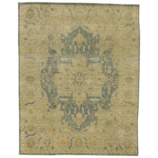 Contemporary Heriz Style Rug With Neutral Colors - 7′10″ × 9′9″ For Sale