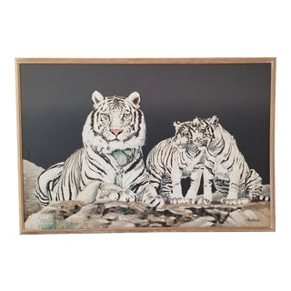 XL Anderson Tigers Landscape Oil on Canvas Painting. For Sale