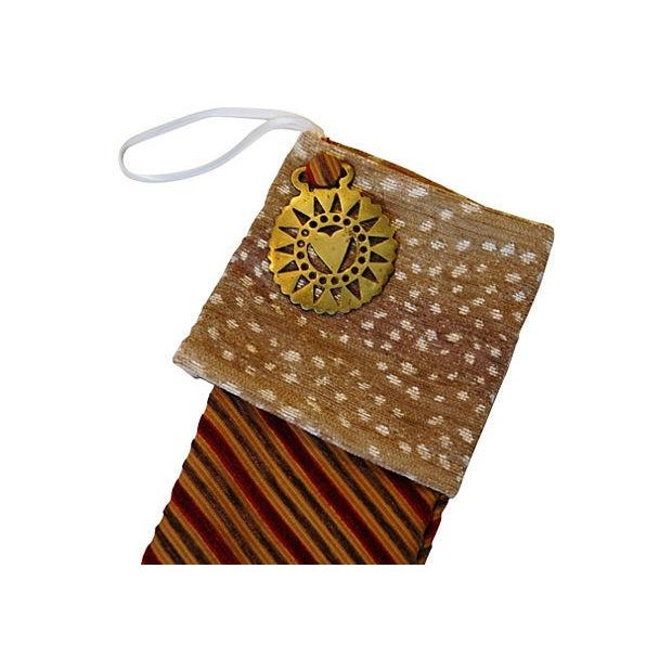 Christmas Stocking with Brass Medallion - Image 2 of 4