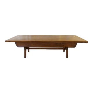 18th Century French Large Tree Trunk Table with Curved Base For Sale