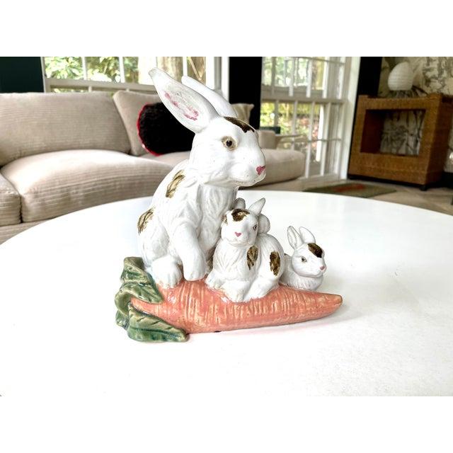 Vintage Provencal Ceramic Bunny Statue For Sale - Image 10 of 13