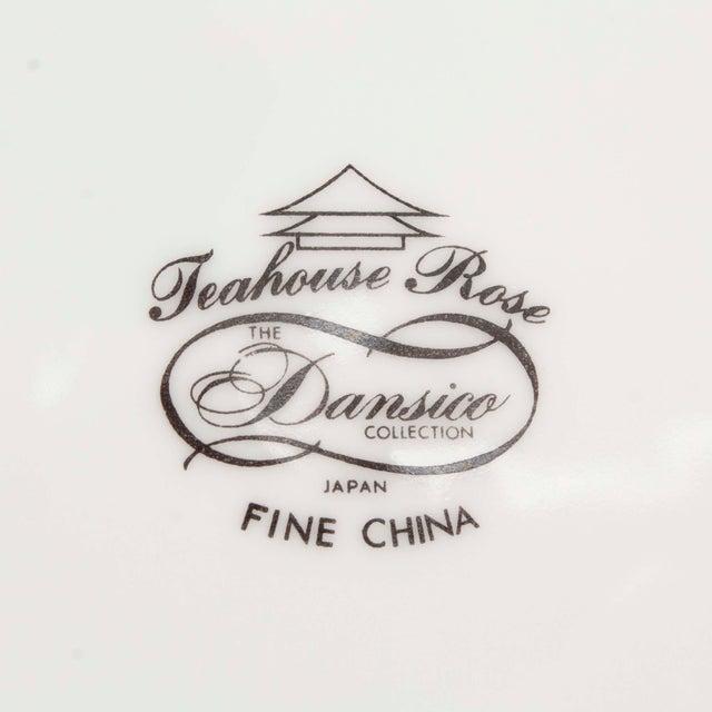 """1960s Vintage 60s Dansico """"Teashouse Rose"""" Fine China, Set of 10 For Sale - Image 5 of 7"""