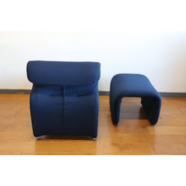 Metal Ribbon Lounge Chair and Ottoman by Oliver Mourgue For Sale - Image 7 of 12