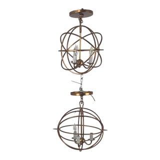 1990s Orbit 3 Light Pendant Lights - a Pair For Sale