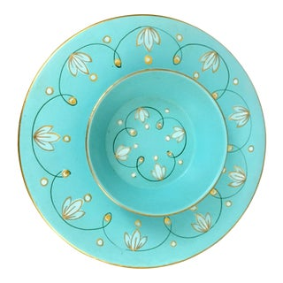 Turquoise Plate and Bowl Set - 2 Pc.