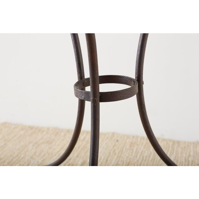 French Belle Époque Iron and Marble Bistro Cafe Table For Sale In San Francisco - Image 6 of 13