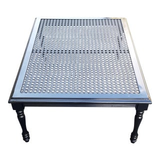 Vintage Metal Woven Coffee Table For Sale