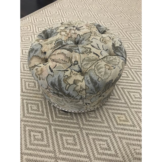 Vintage Fabric Upholstered Foot Stool/Ottoman For Sale - Image 4 of 13