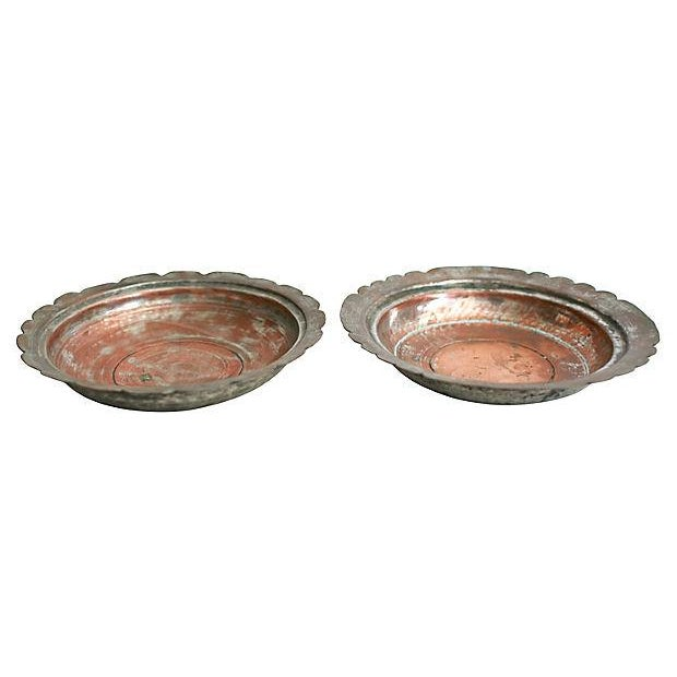 Egyptian Copper Bowls - a Pair - Image 2 of 5