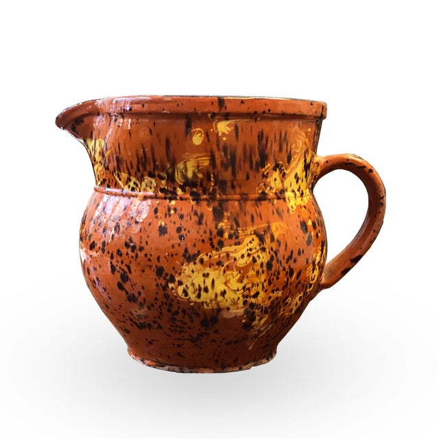 Ceramic French 19th Century Red-Ware Pitcher For Sale - Image 7 of 7
