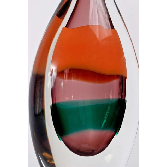 Impressive Luciano Gaspari Sommerso Glass Bottle Vase - Image 3 of 3