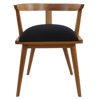 Modern Black & Brown Wooden Chair For Sale