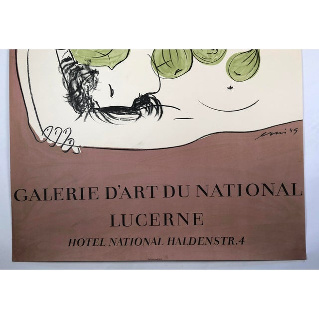 Contemporary Hans Erni Art Exhibition Poster, Swiss, Circa 1949 For Sale - Image 3 of 12