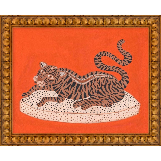 """Small """"Andrew the Big Cat"""" Print by Willa Heart, 16"""" X 13"""" For Sale"""