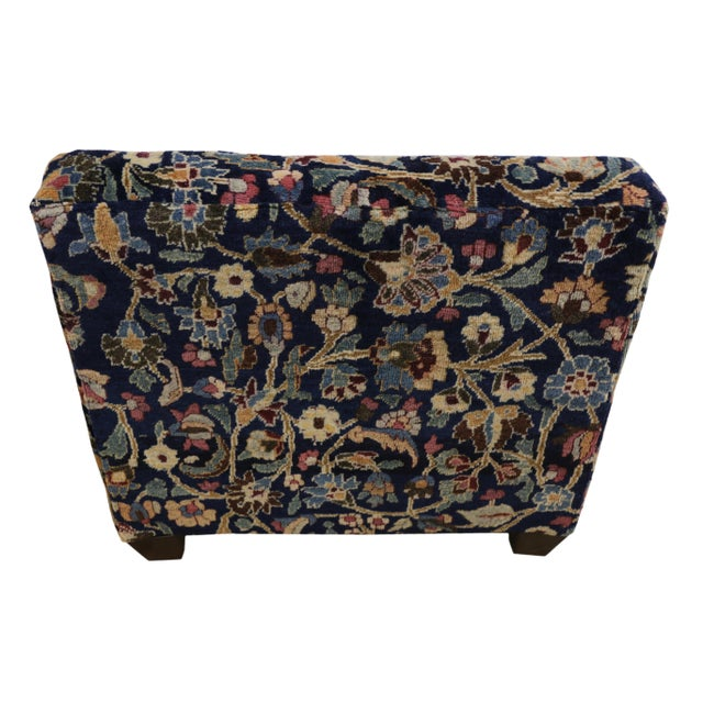 English Traditional 1880's Persian Low Profile Slipper Chair or Petbed From Antique Khorassan Rug For Sale - Image 3 of 7
