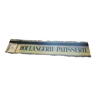 Late 20th Century Vintage Wooden French Shop Sign