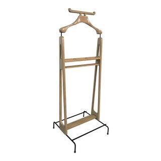 French Jacques Adnet Oak Wood Bedroom Valet For Sale