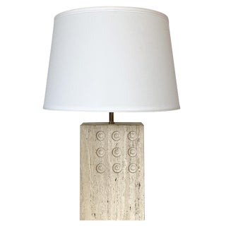 Italian Travertine Table Lamp by Reggiani for Raymor For Sale