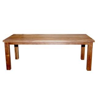 Sleek Teak Parson Dining Table