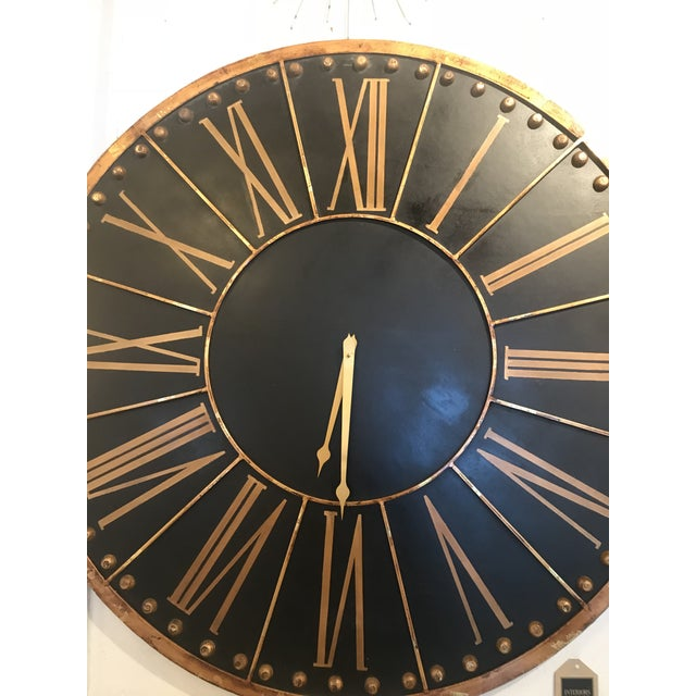 2010s Large Black and Copper Clock For Sale - Image 5 of 8