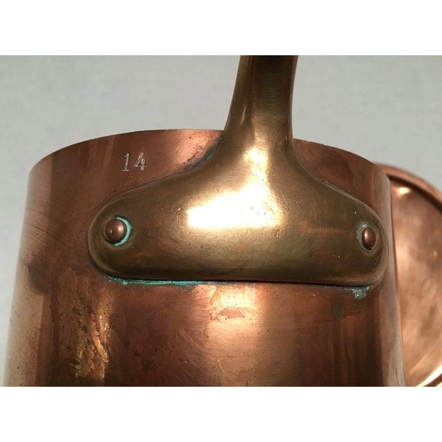 Bazar Francais Vintage Copper Saucepan - Image 6 of 8