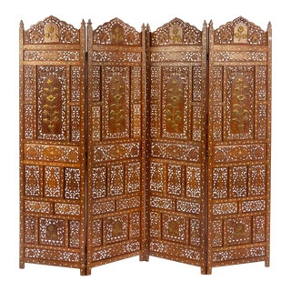 Southeast Asia Four Panel Floor Screen For Sale