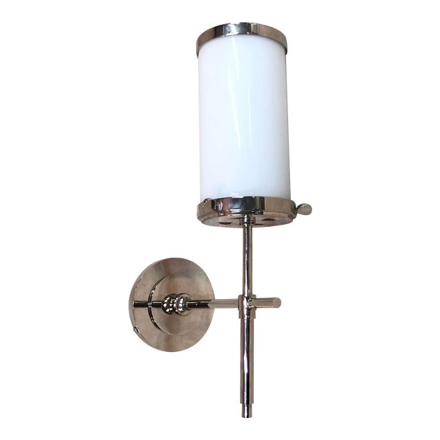 Visual Comfort Bryant Bath Sconce in Polished Nickel For Sale
