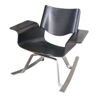 Modern Buttercup Plywood Rocking Chair For Sale