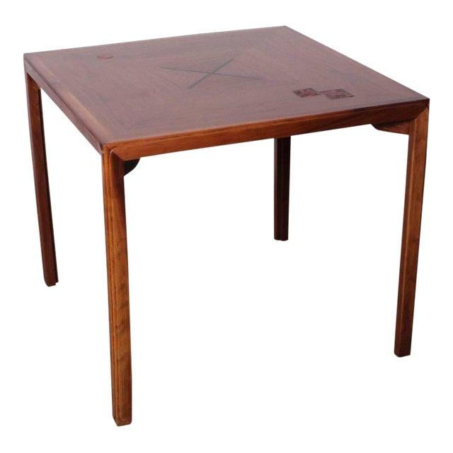 Edward Wormley for Dunbar Game Table with Natzler Tiles For Sale