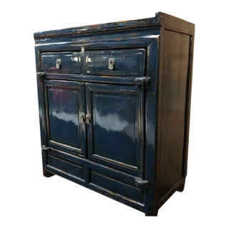 Vintage Chinese Lacquered Small Buffet For Sale