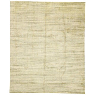 Earth-Tone Transitional Neutral Area Rug - 7′10″ × 9′10″ For Sale