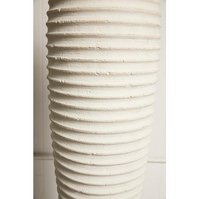 White Vintage Plaster Sculptural Floor Lamp For Sale - Image 8 of 9