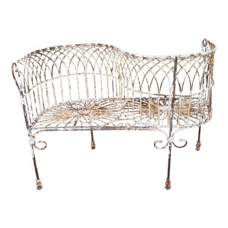 Wire Tete a Tete Garden Bench For Sale