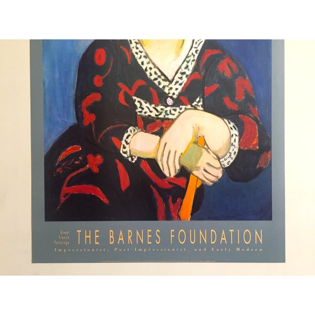 "Portraiture Henri Matisse Vintage 1991 Lithograph Print Museum Poster "" Madame Matisse Madras Rouge "" 1907 For Sale - Image 3 of 13"