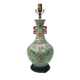 Chinese Dragon Design Porcelain Vase Lamps