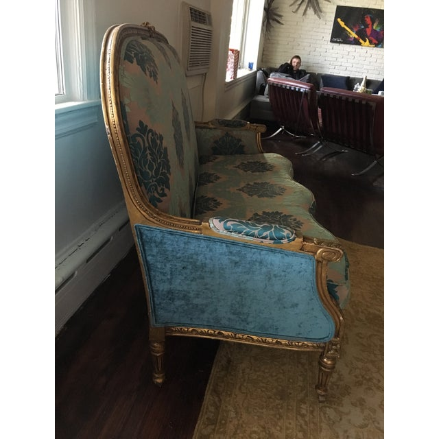 Early 20th Century Vintage Restored Settee For Sale - Image 4 of 5