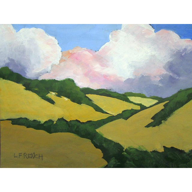 Contemporary California Malibu Hills Morning Clouds Landscape Lynne French For Sale - Image 3 of 7