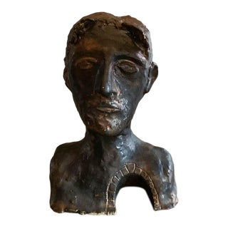 Vintage Sculpture - Bust of a Man With an Entrance For Sale
