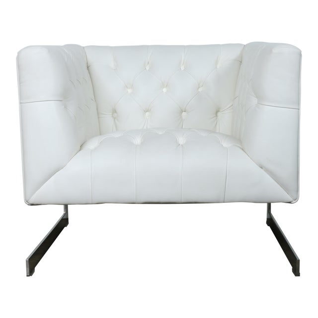 Modern Chesterfield Tufted Chair - Image 1 of 11