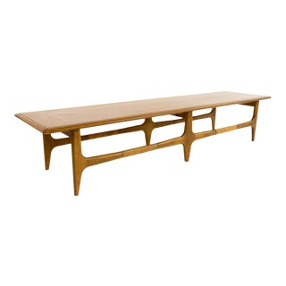 Lane Long Mid-Century Coffee Table with Inlays