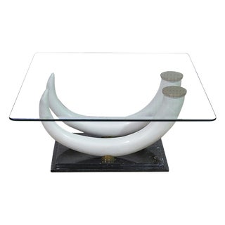 Maison Janson Glass Top Coffee Table For Sale