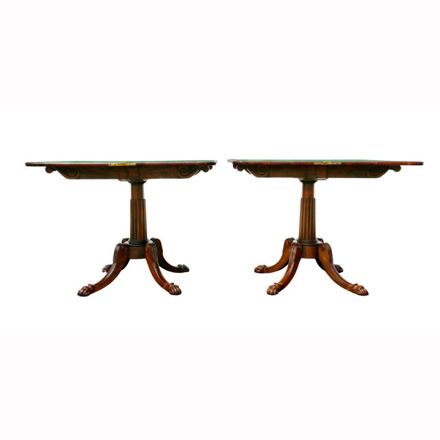 Pair of Regency Rosewood Games Tables For Sale In Boston - Image 6 of 13