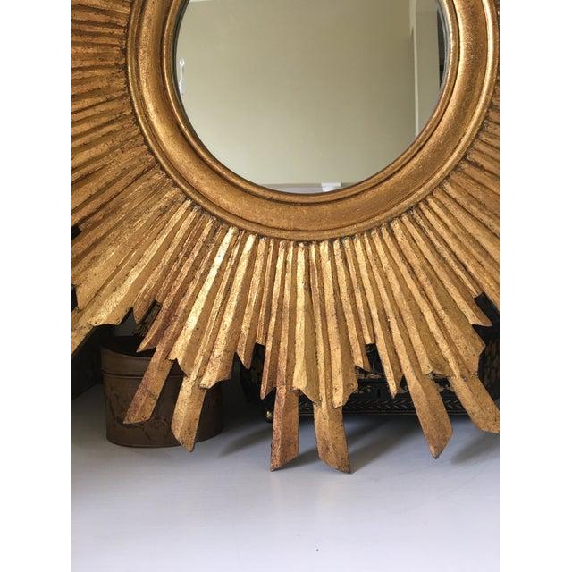 Gilt Wood Sunburst Mirror For Sale - Image 4 of 13