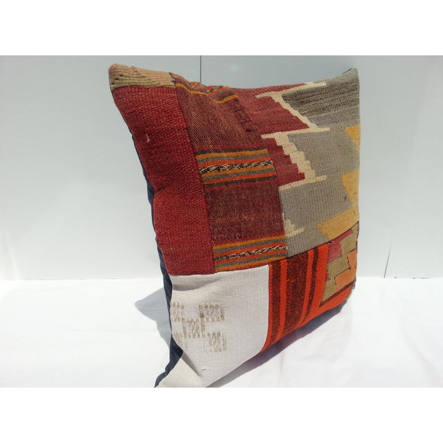 Islamic Turkish Kilim Pillow Cover For Sale - Image 3 of 6