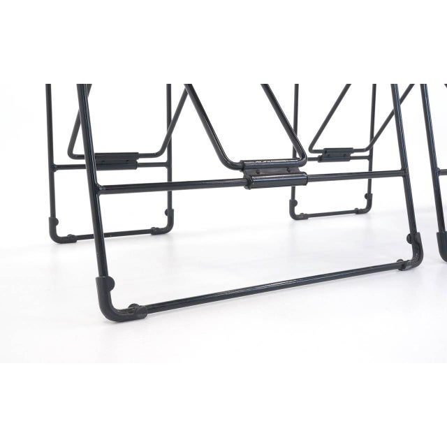 Black Set of 6 Cricket Folding Chairs by Andries Van Onck & Kazuma Yamaguchi for Magis For Sale - Image 8 of 10